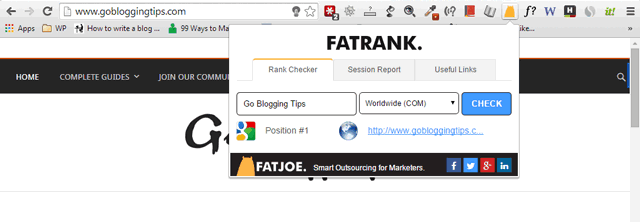 FatRank search position checker
