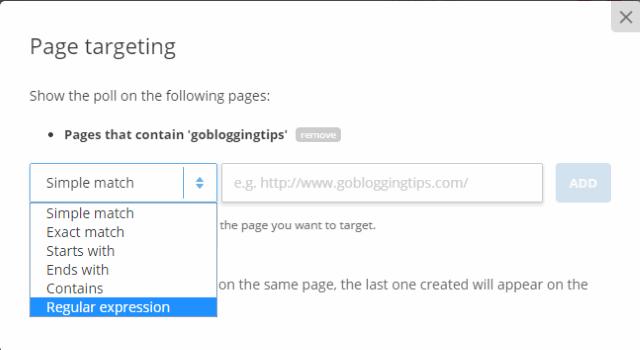 Page targeting