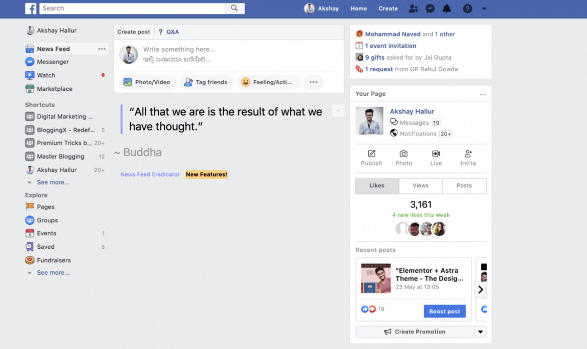 News Feed Eradicator