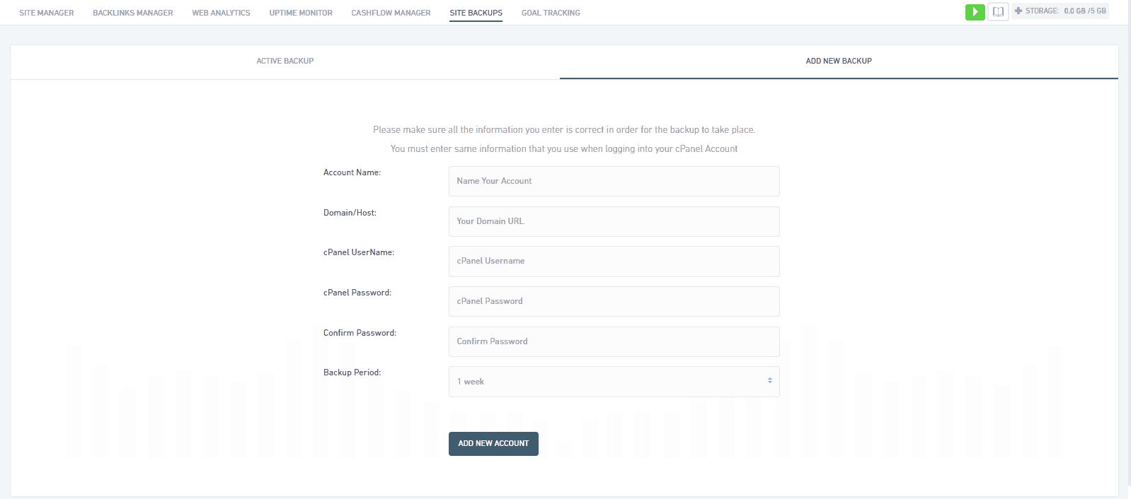 Site backups