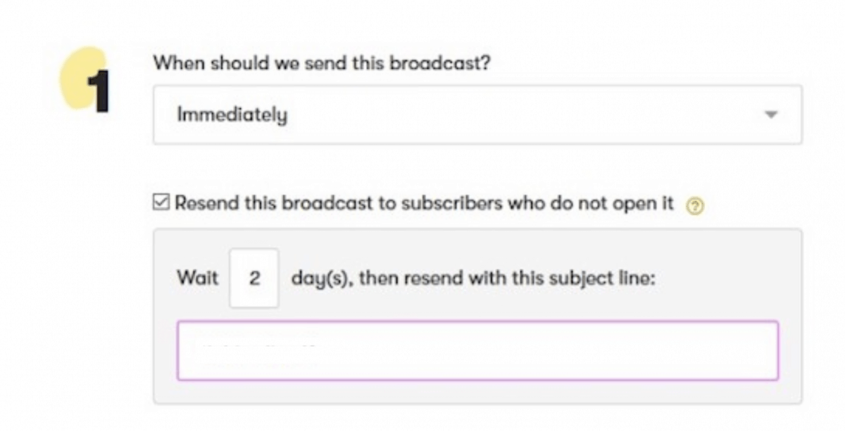 Automatically resending the broadcasts