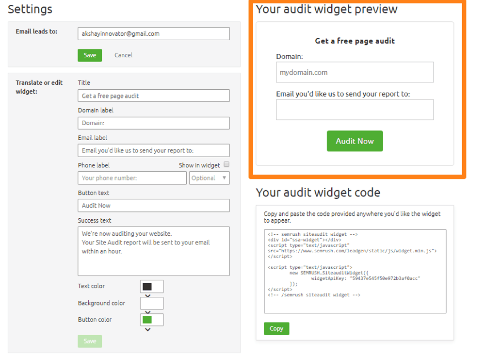 Seo page audit