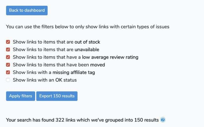 Scanning Entire Site With All Your Affiliate Links