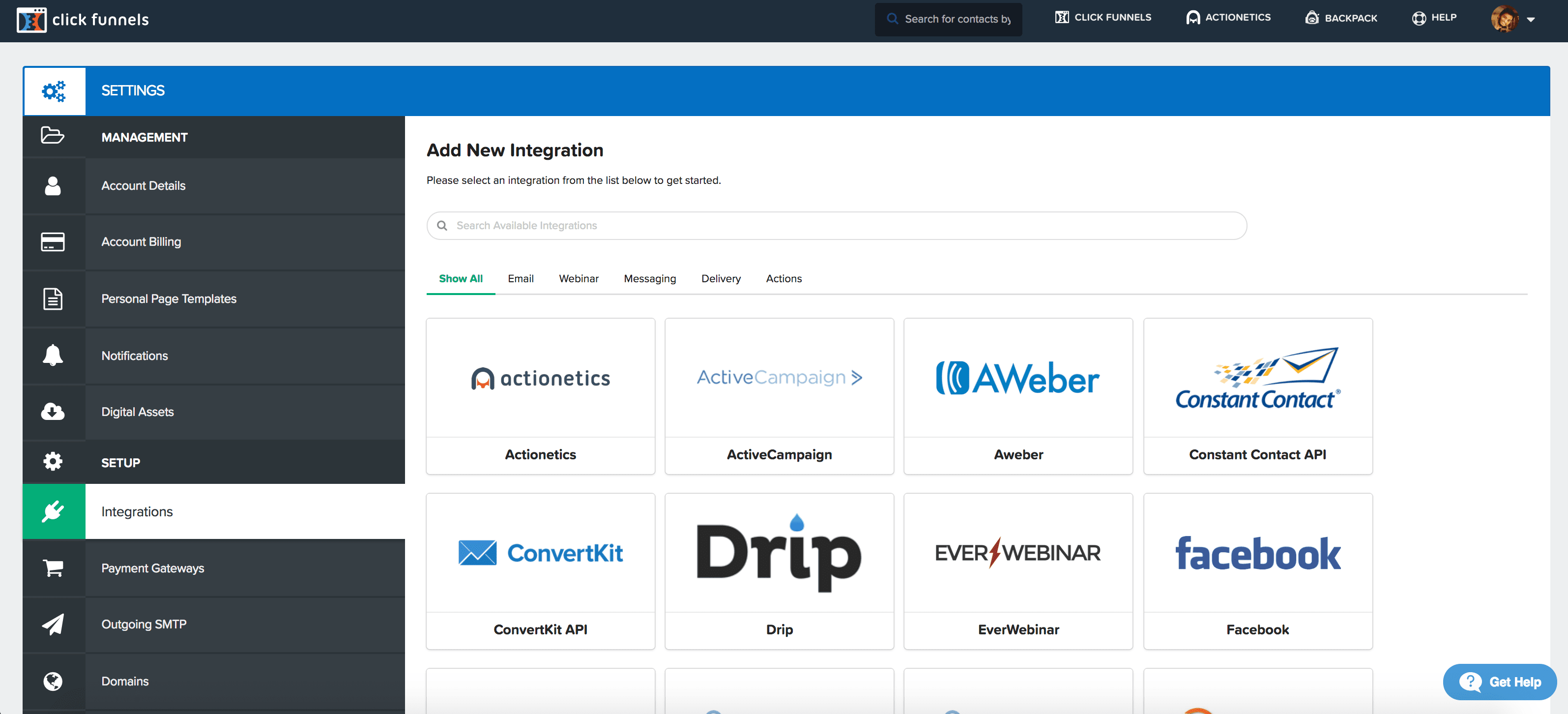 Clickfunnels integrations