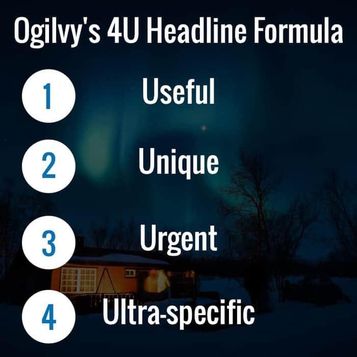4U Headline formula