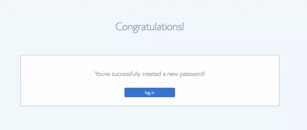 created the password
