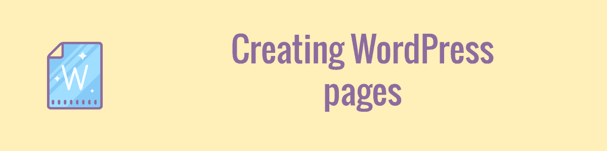 Creating WordPress pages