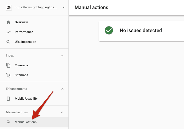 Manual actions Google
