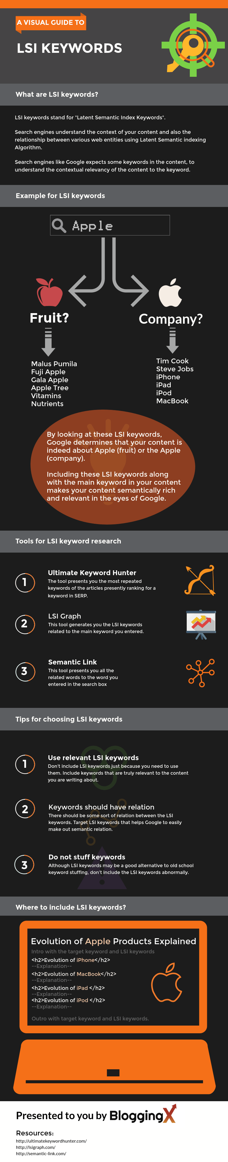 LSI Keywords Infographics Raw