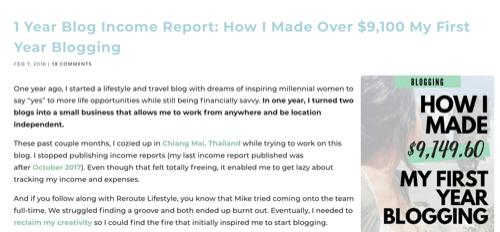 Reroute Report