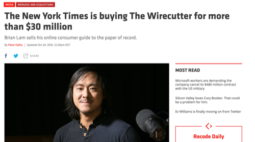 Wirecutter Acquired
