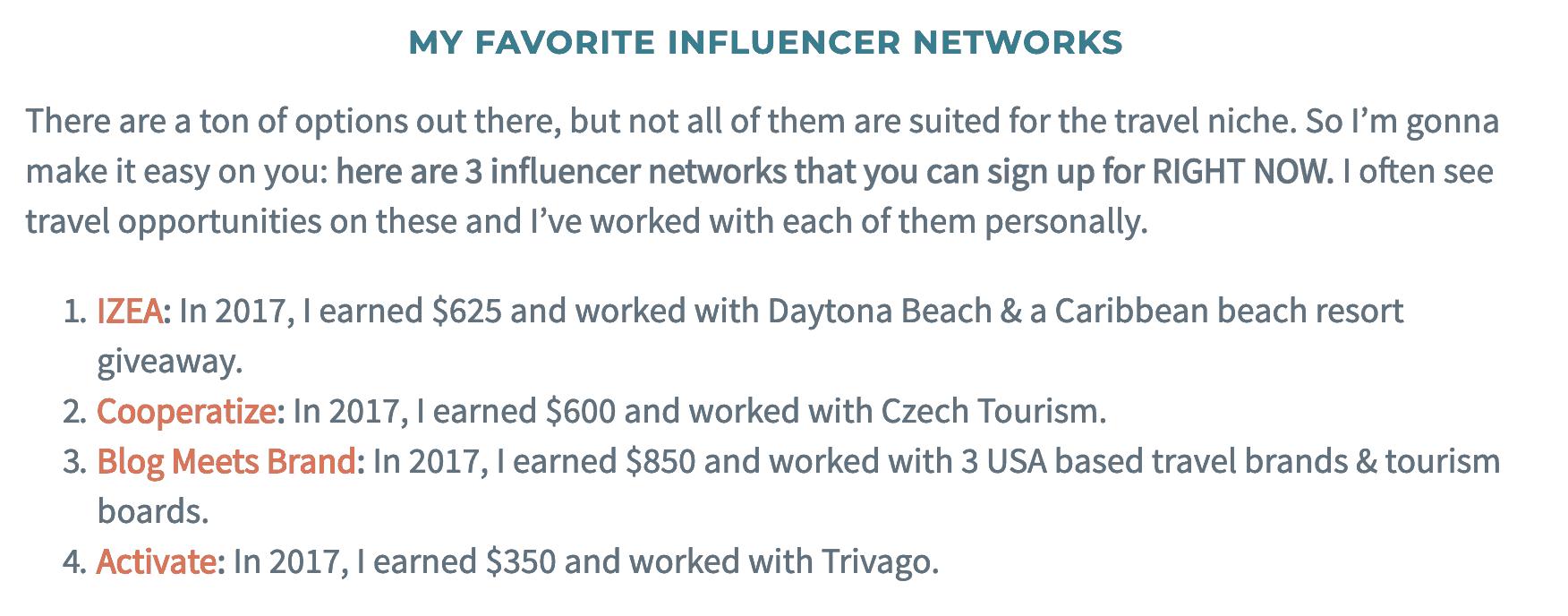 Influencer networks