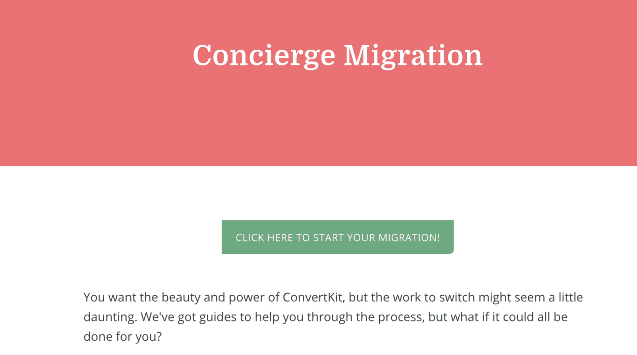 Migrating to ConvertKit