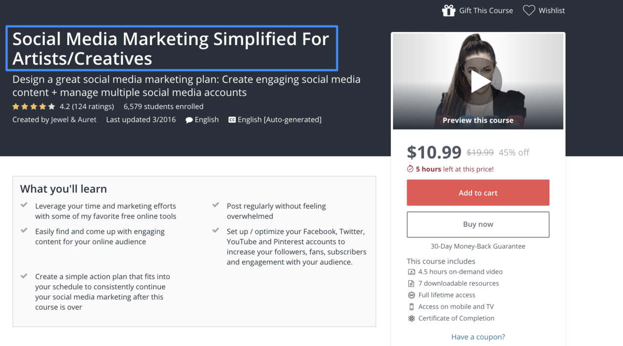 Course on social media marketing for experts