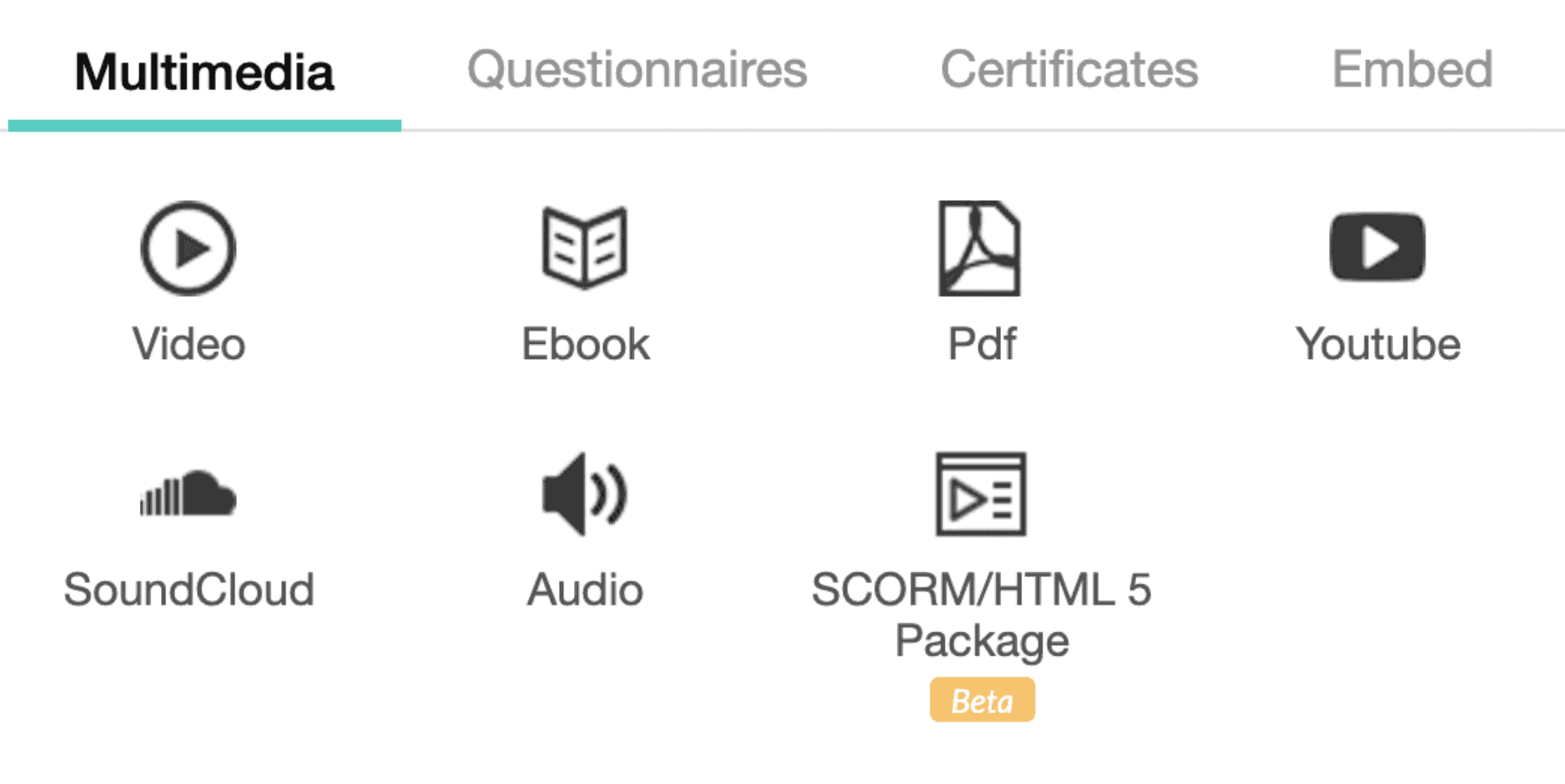 LearnWorlds course features