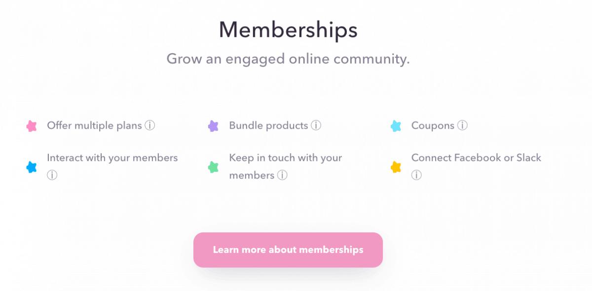 Memberships of Podia