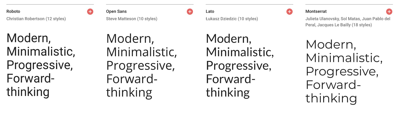 Sans serif fontface