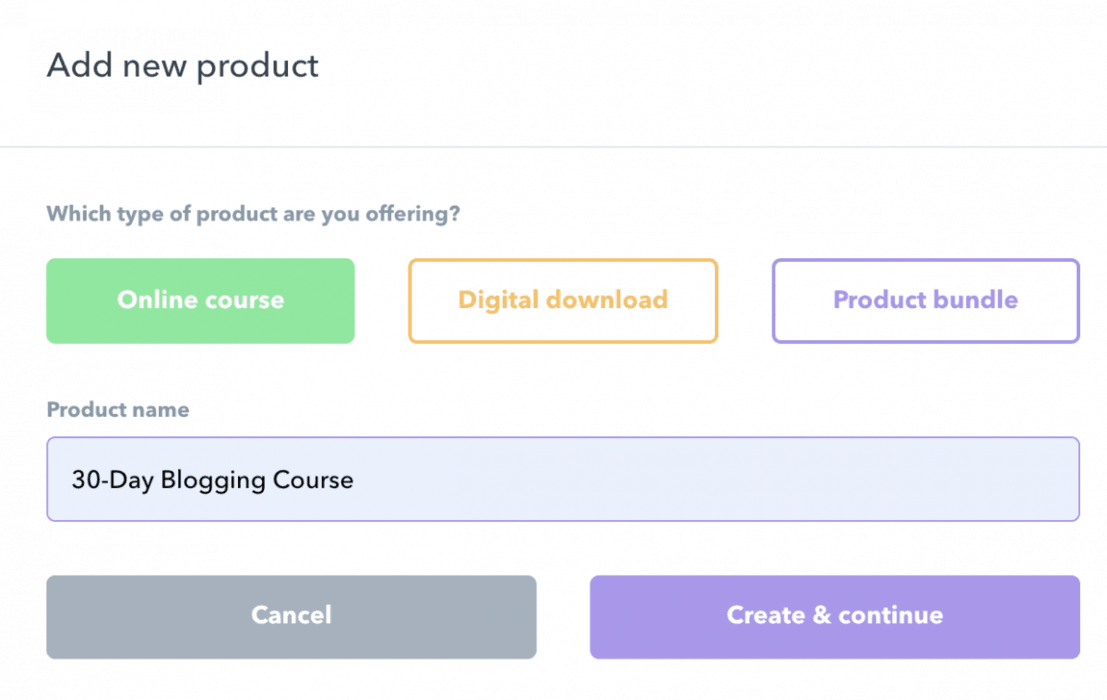 Course creation