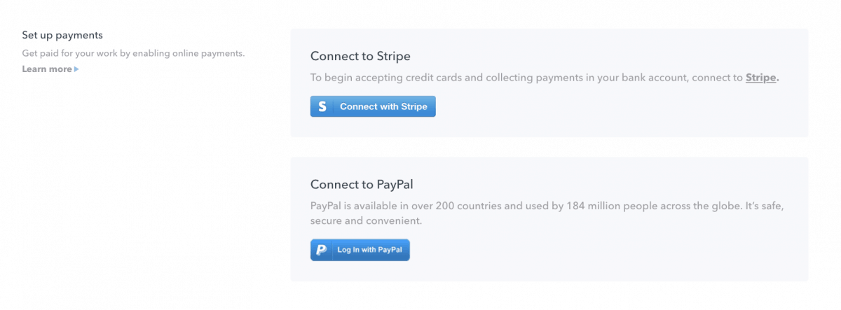 PayPal and Stripe payments