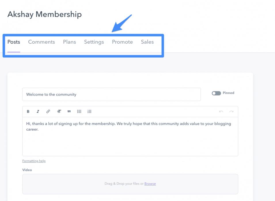 Podia membership portal