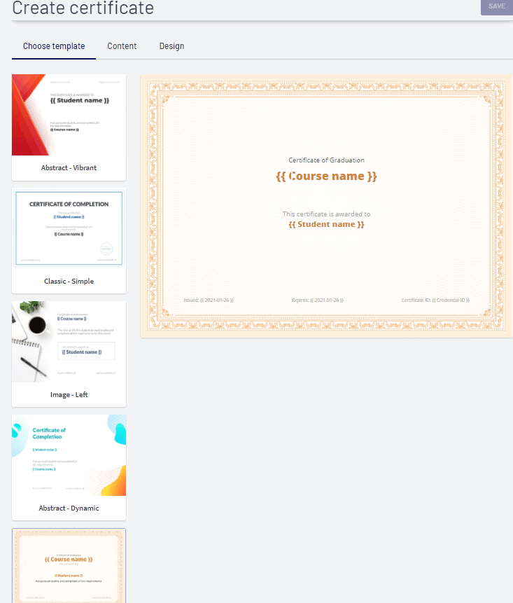 Thinkific Certificate Templates