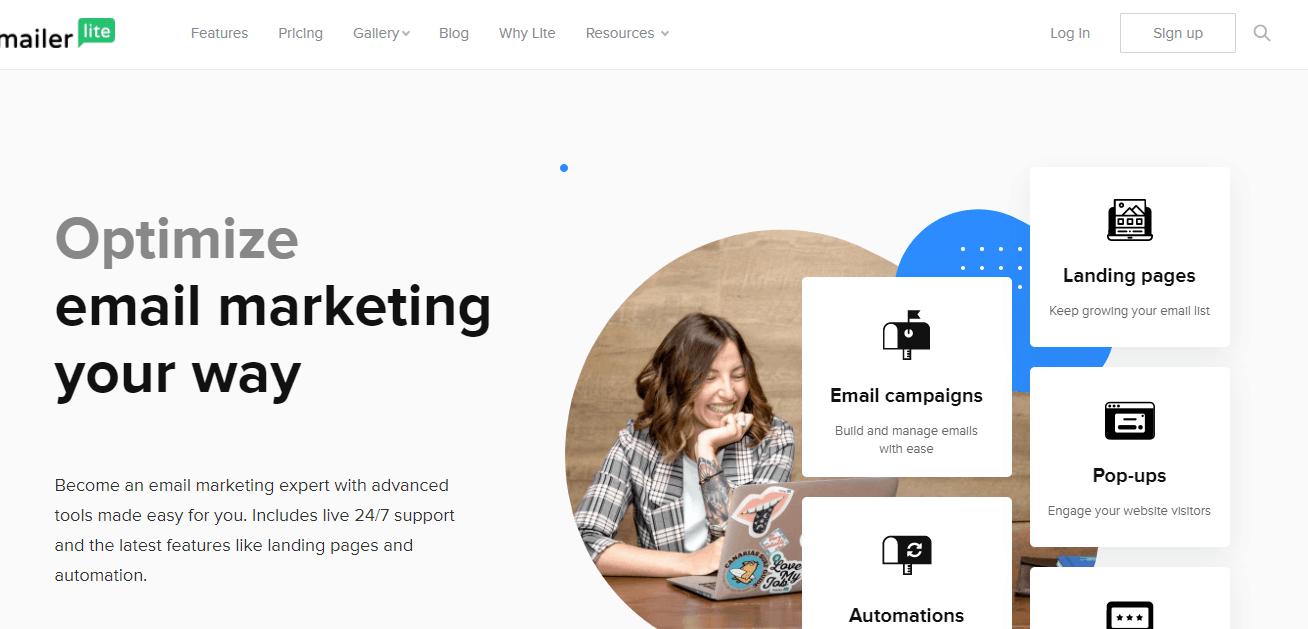 MailerLite interface