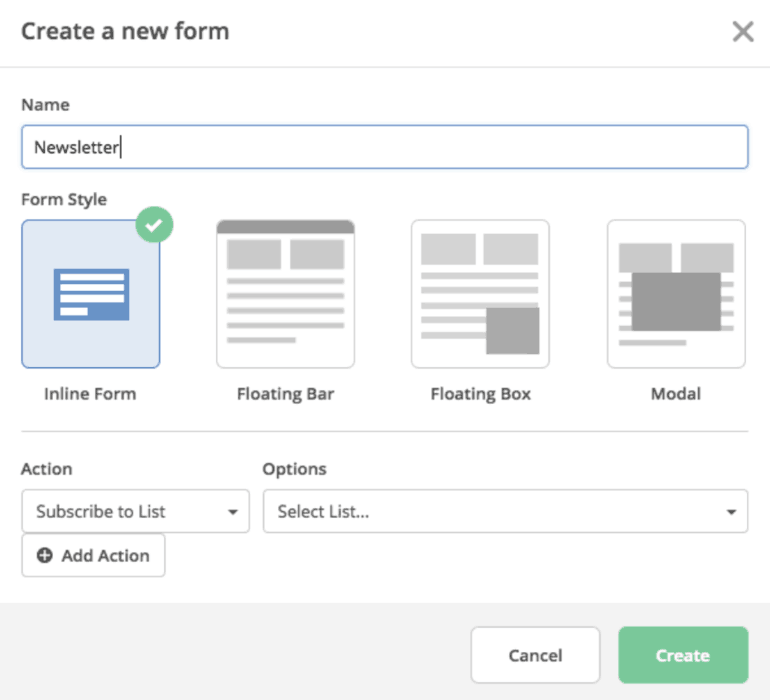 Creating a form in ActiveCampaign