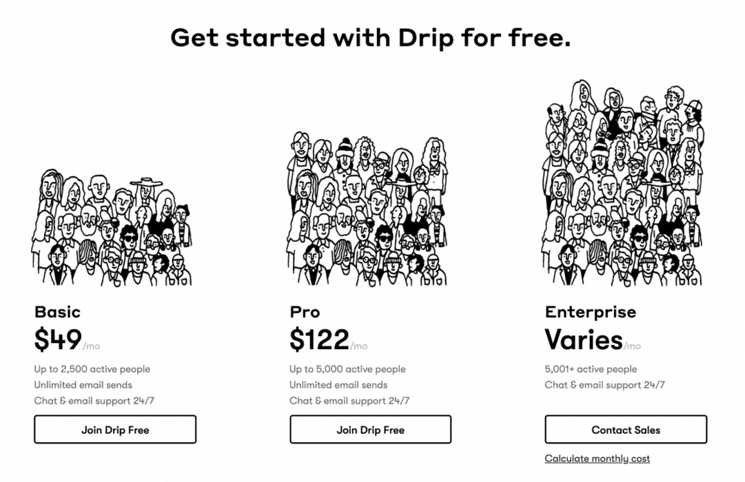 Drip pricing