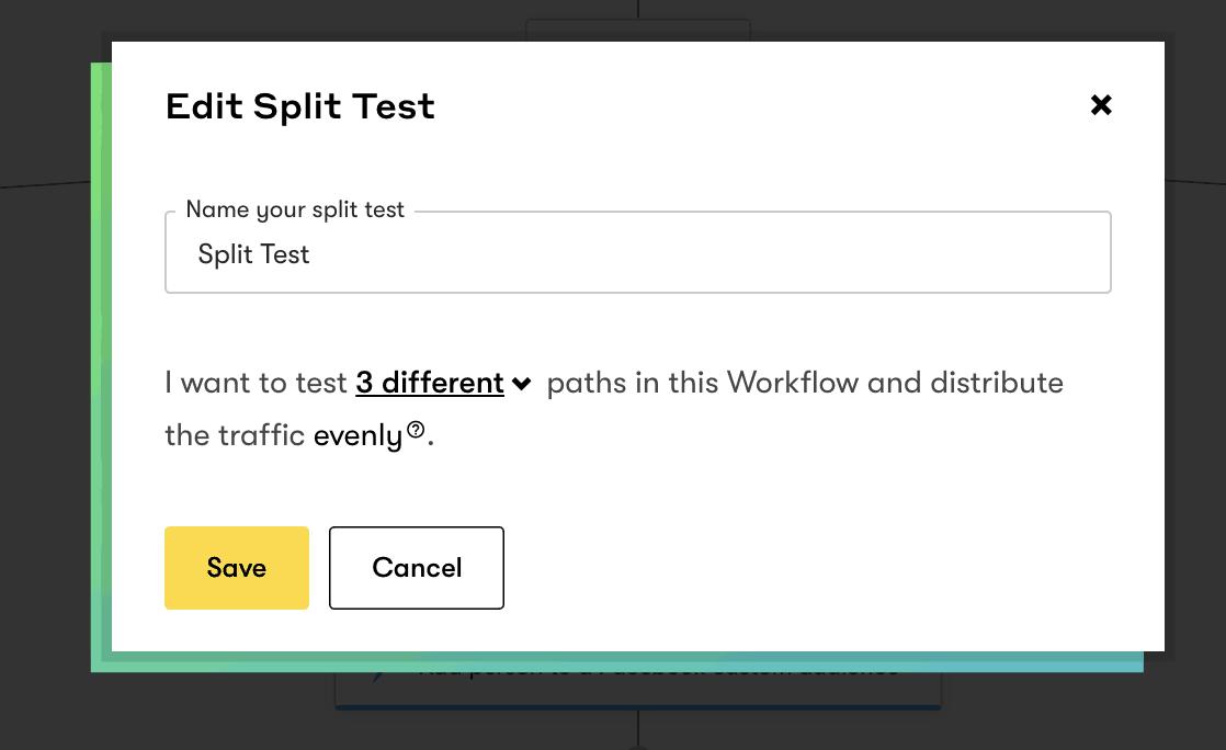 Editing split test