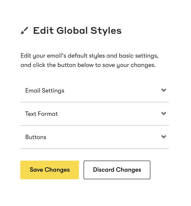 Global styles feature