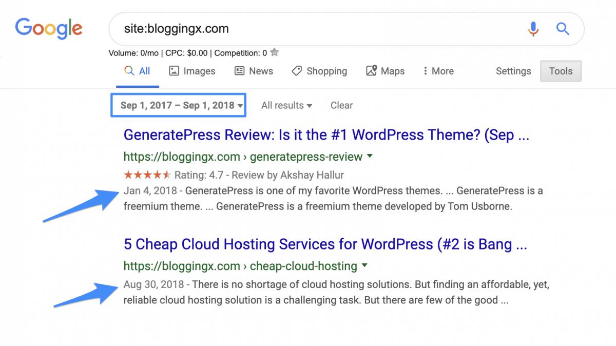 Using domain search modifier