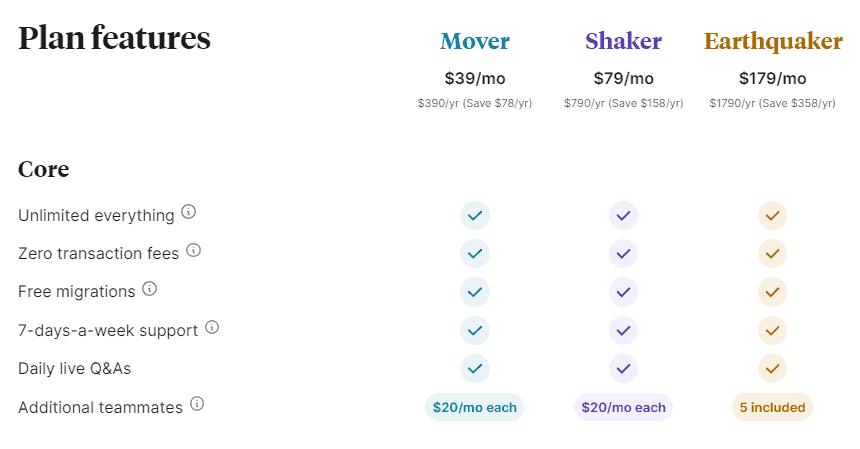 Podia new pricing
