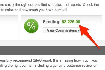 Earnings Siteground Screenshot