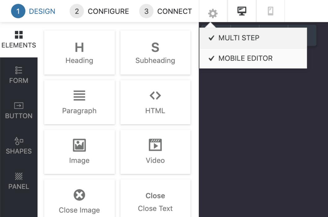 Multi-step popups