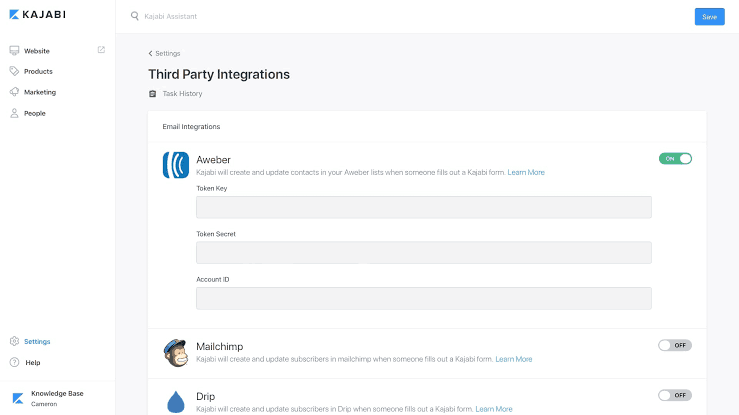 Kajabi third party integrations