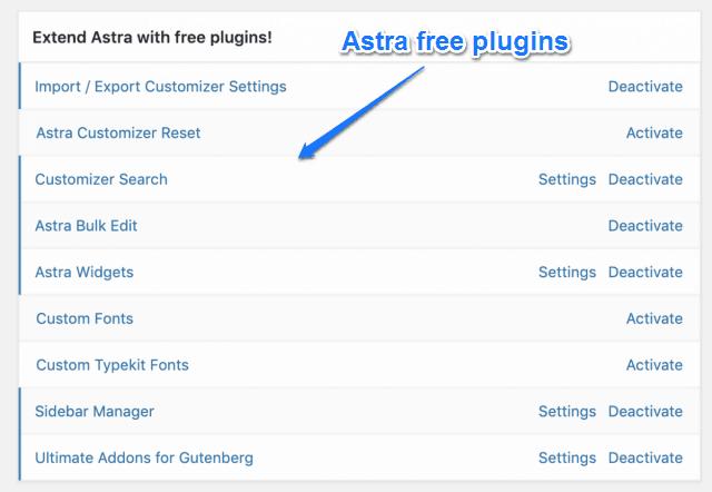 Astra Free Plugins