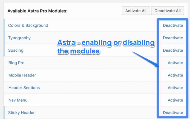 Astra Modular Approach