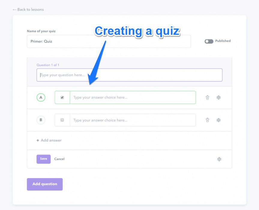 Creating A Quiz
