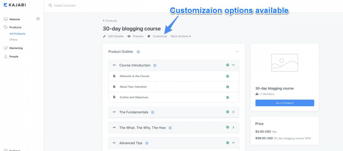 Customization Options With Kajabi