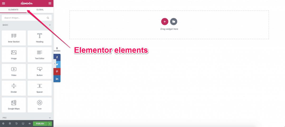 Elementor Elements