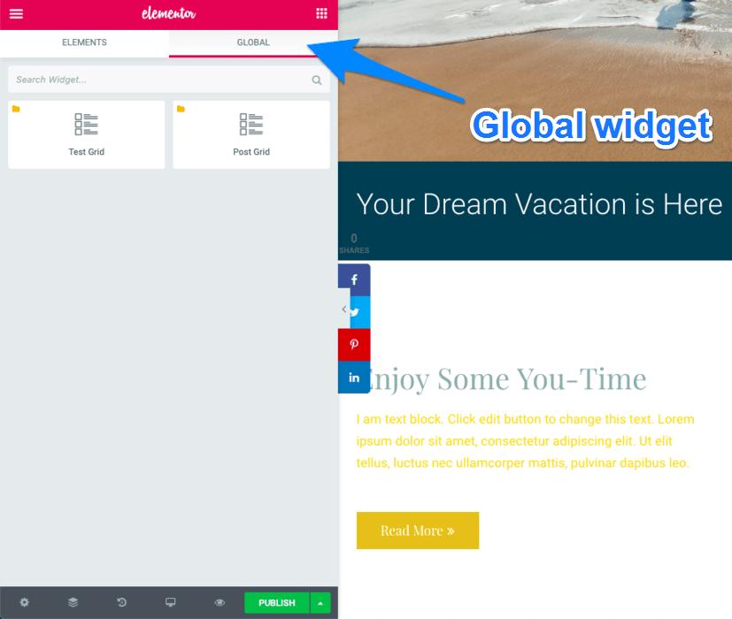Global Widget