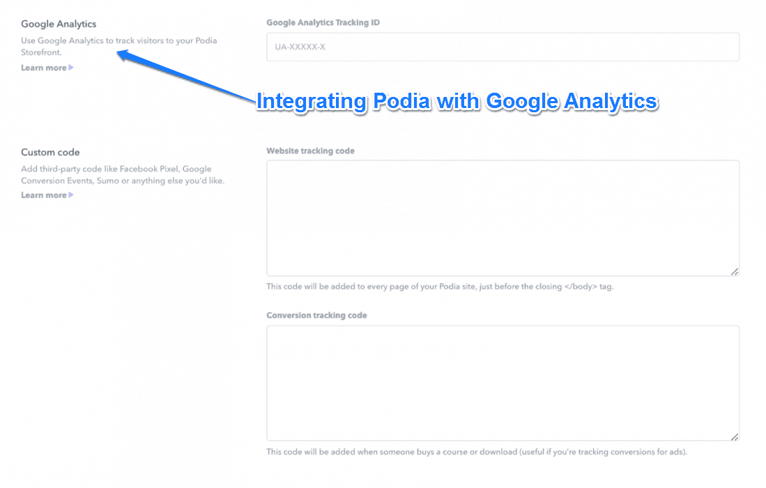 Integrating Podia With Google Analytics