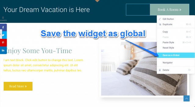 Save The Widget A Global