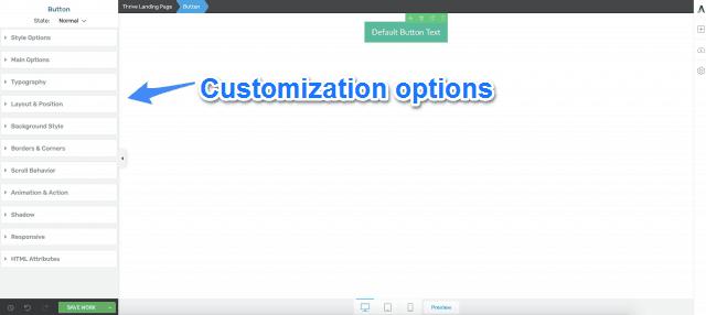 Thrive Architect Customization Options