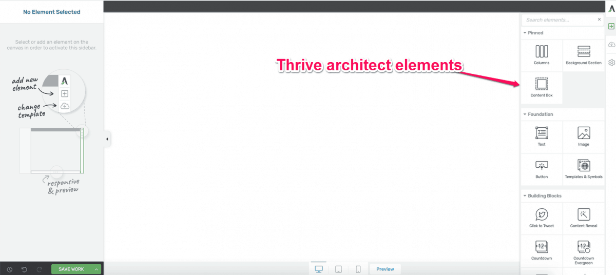 Thrive Architect Elements
