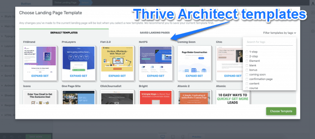 Thrive Architect Templates
