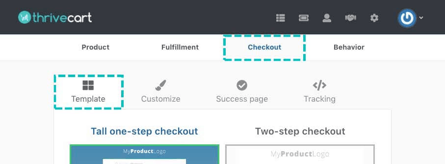 Checkout templates of ThriveCart