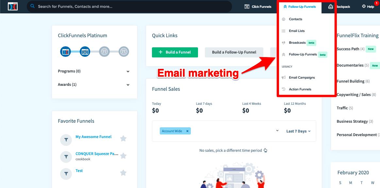 ClickFunnels email autoresponders