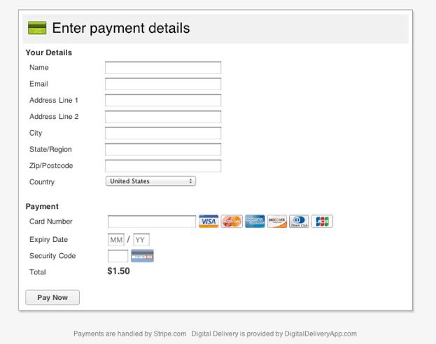 Filling payment details