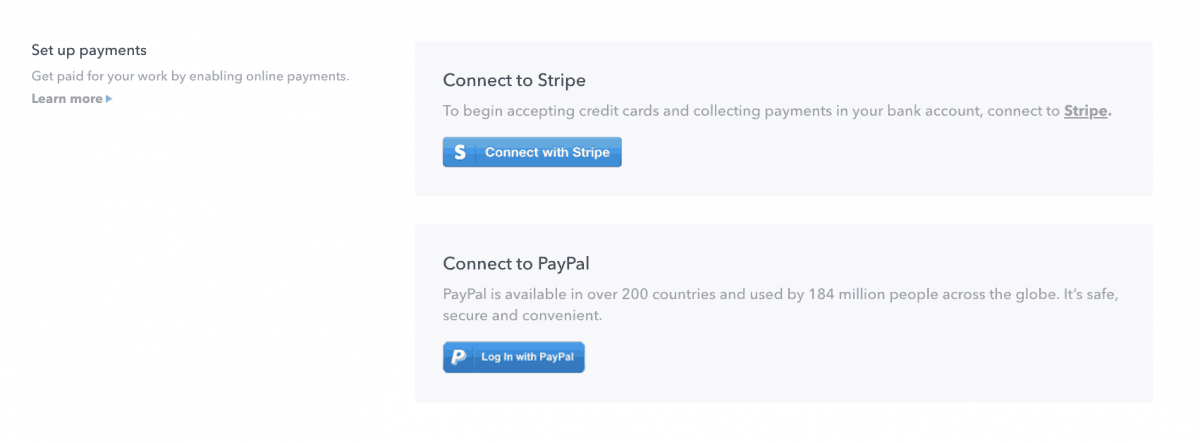 Setting up the payments